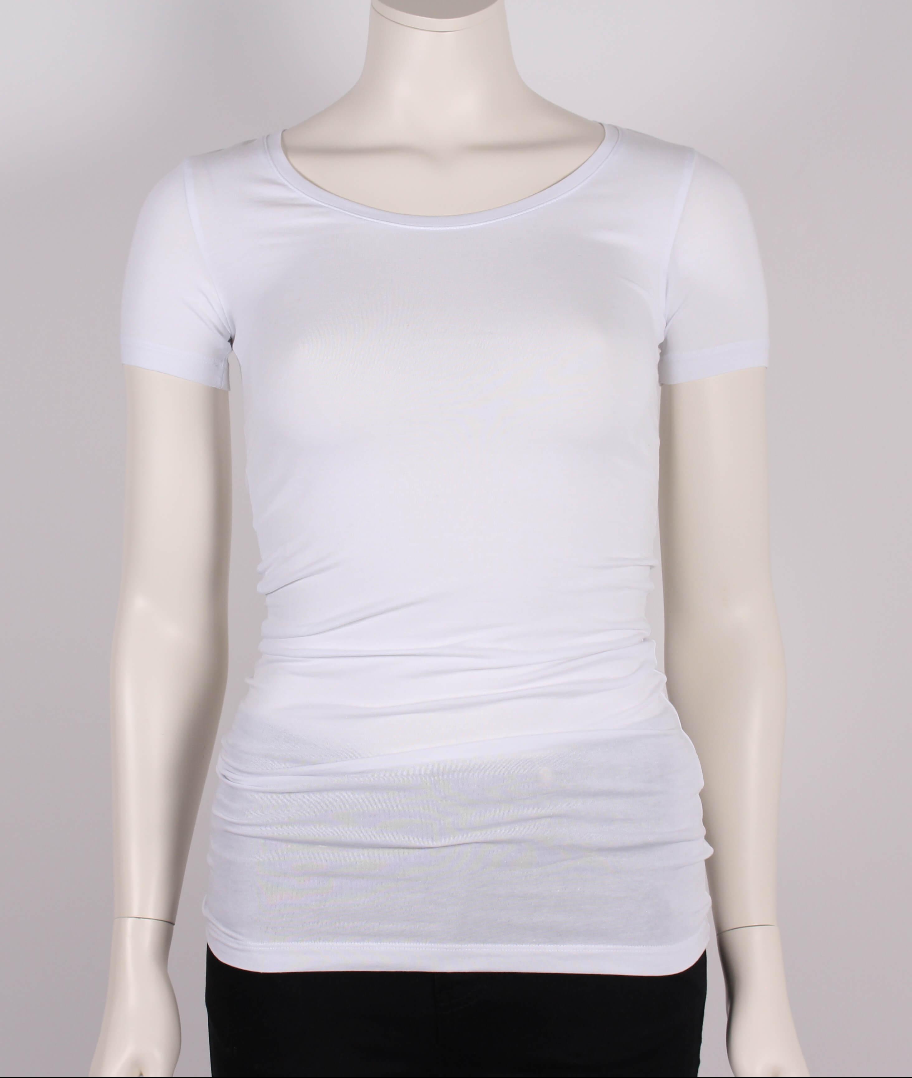 Samsøe Samsøe Female Sadie Solid T shirt kæ Hvid Tilbud