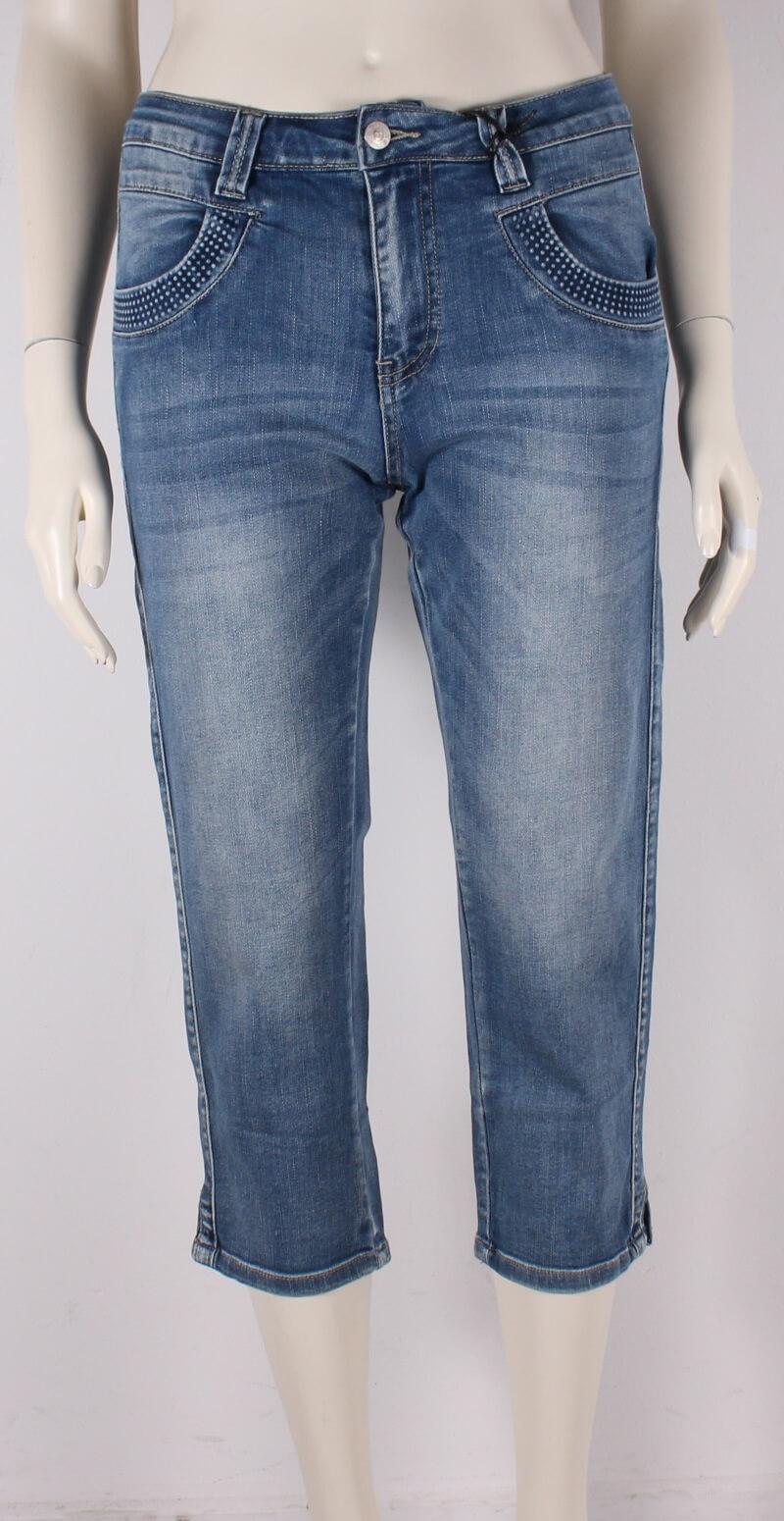 ASP – Smarte Malle 3/4 Dame Jeans – Lyseblå Denim