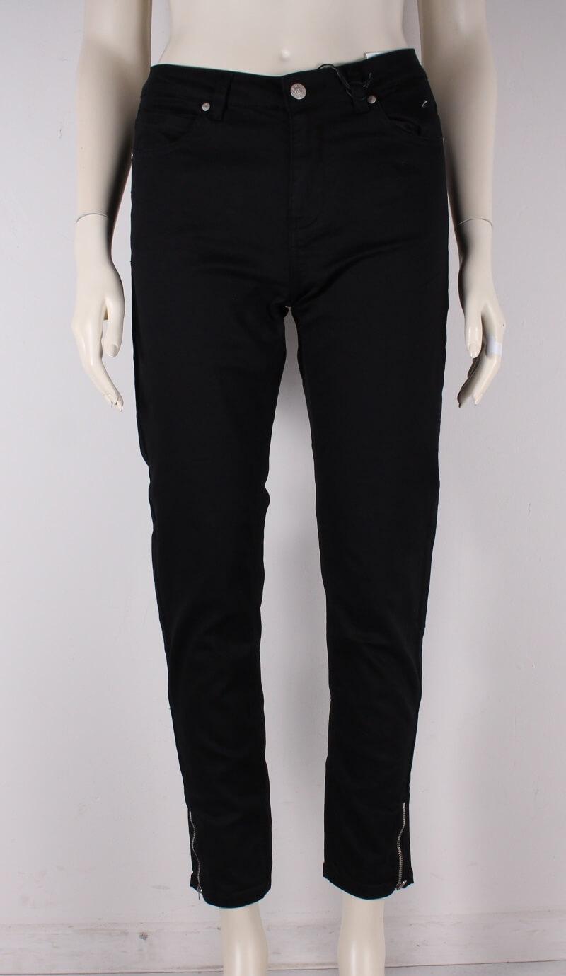 ASP – Velsiddende Liv 7/8 Slimfit Dame Jeans – Sort