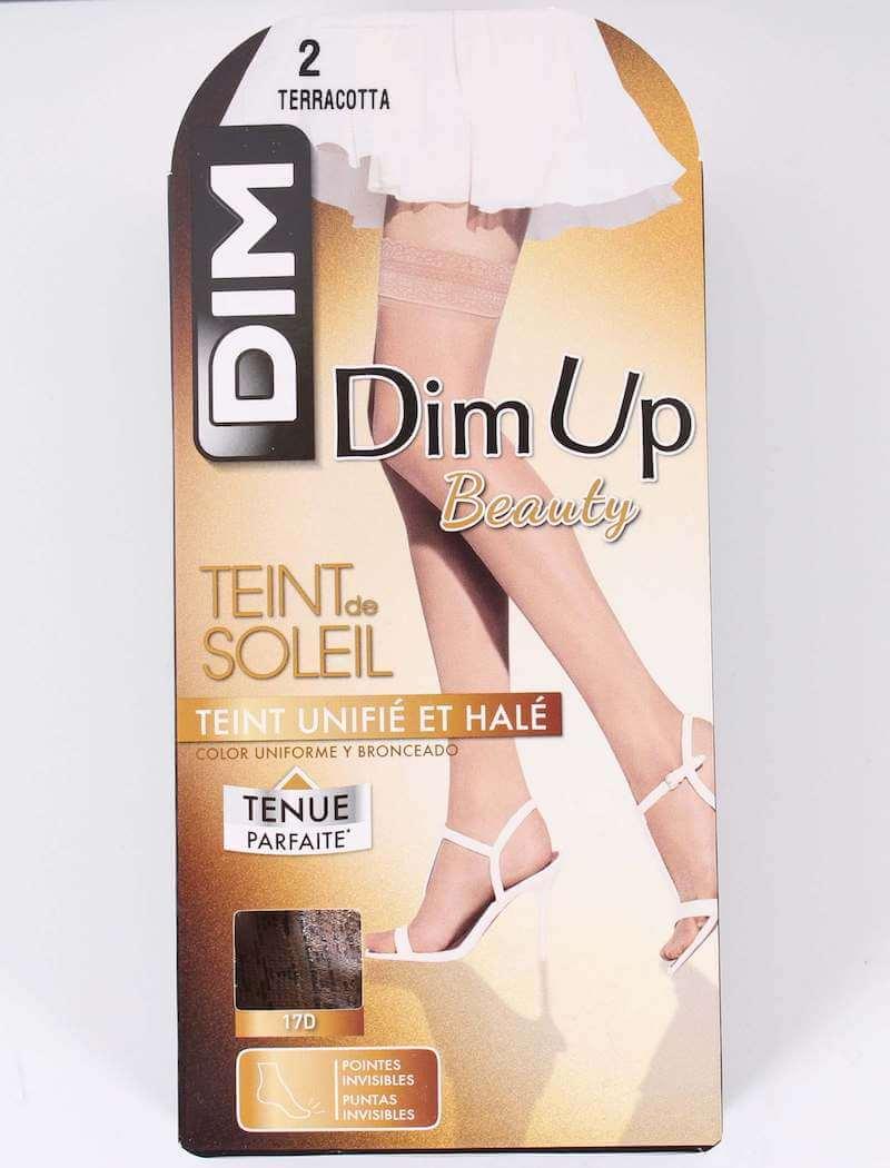 DIM – Selvsiddende Nylonstrømpe i 17D – Dim Up – Terracotta
