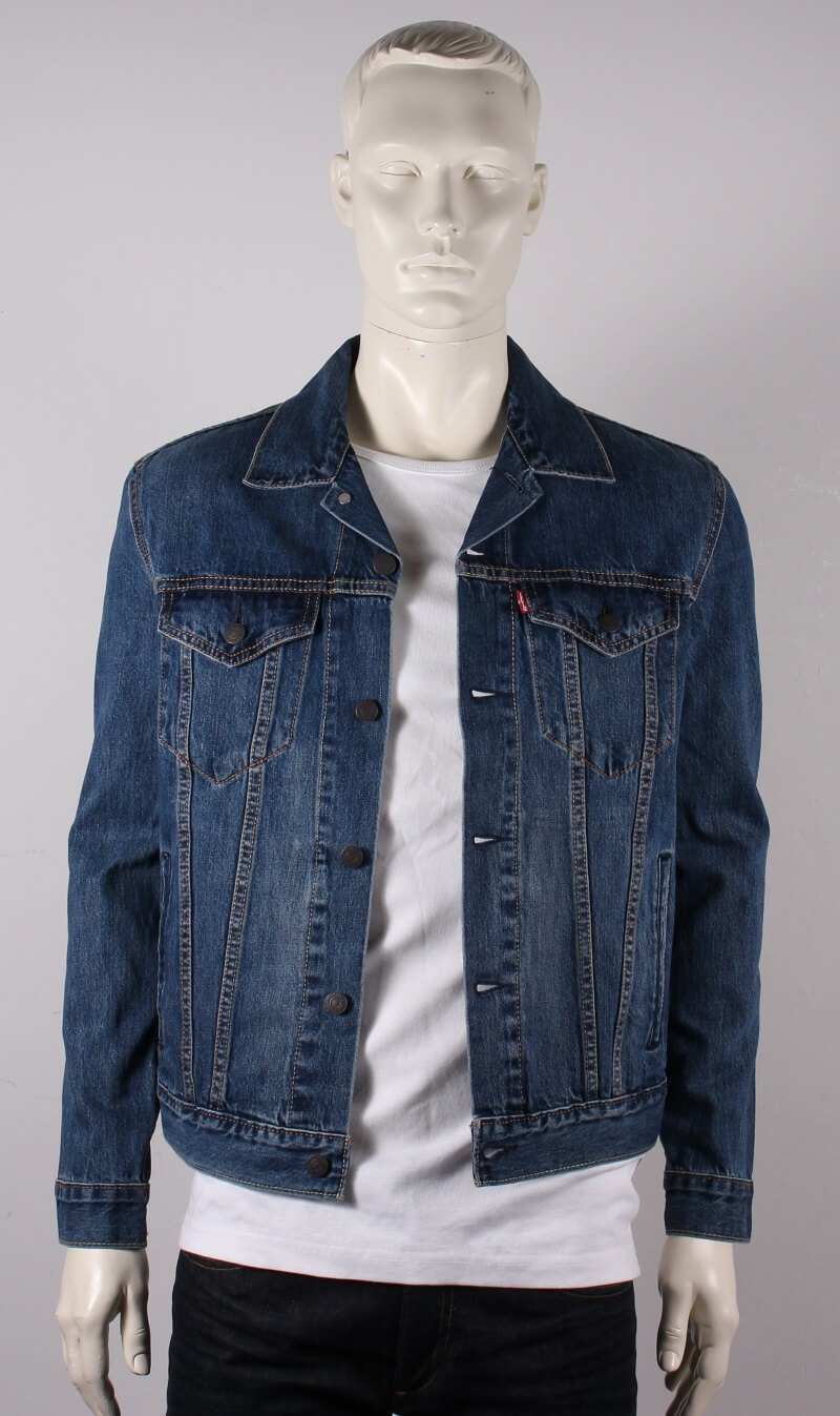 Levis Men – The Trucker Jacket – Blå Denim
