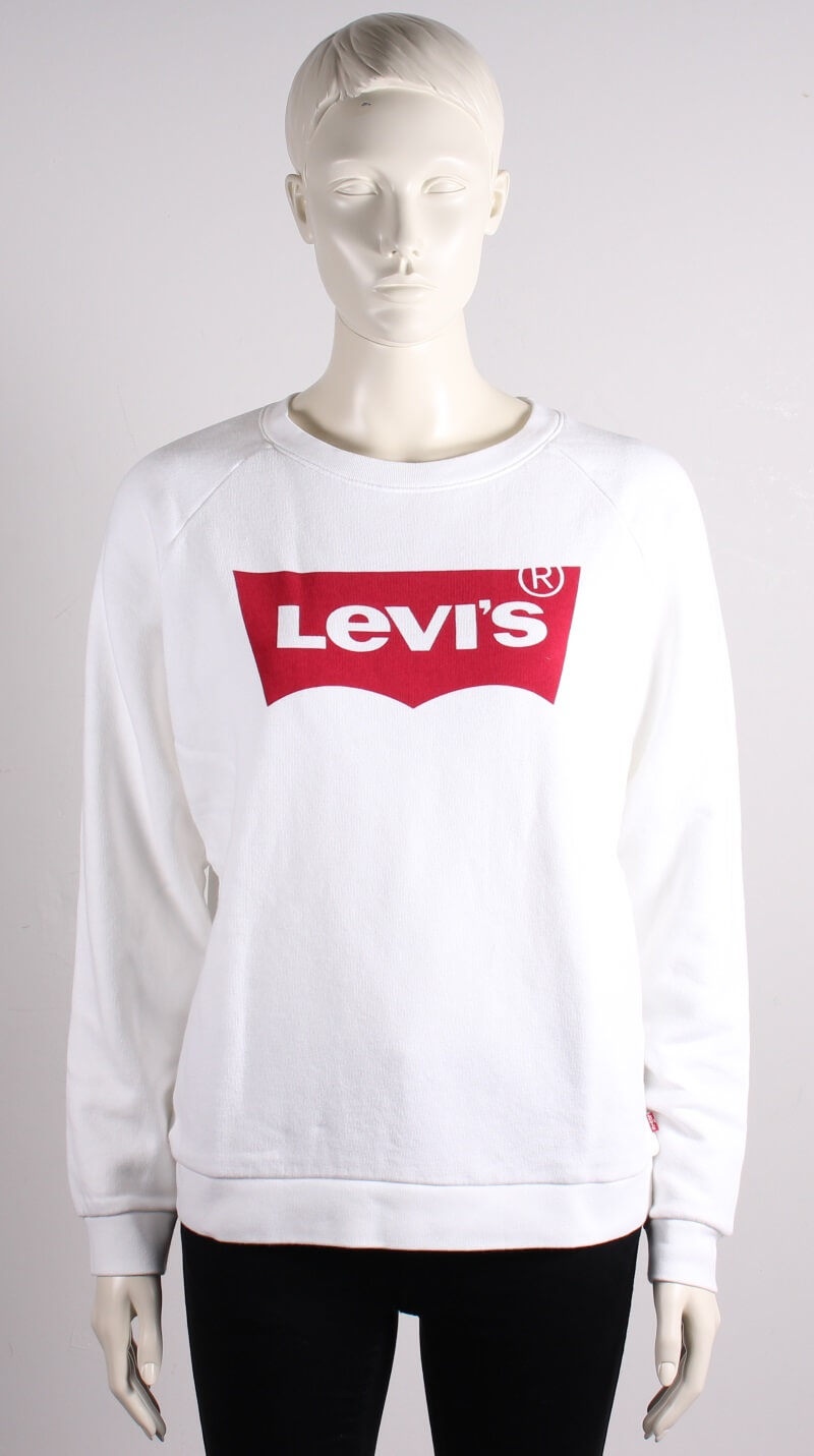 Levis Women – Relaxed Graphic Crew Better – Hvid – 40%