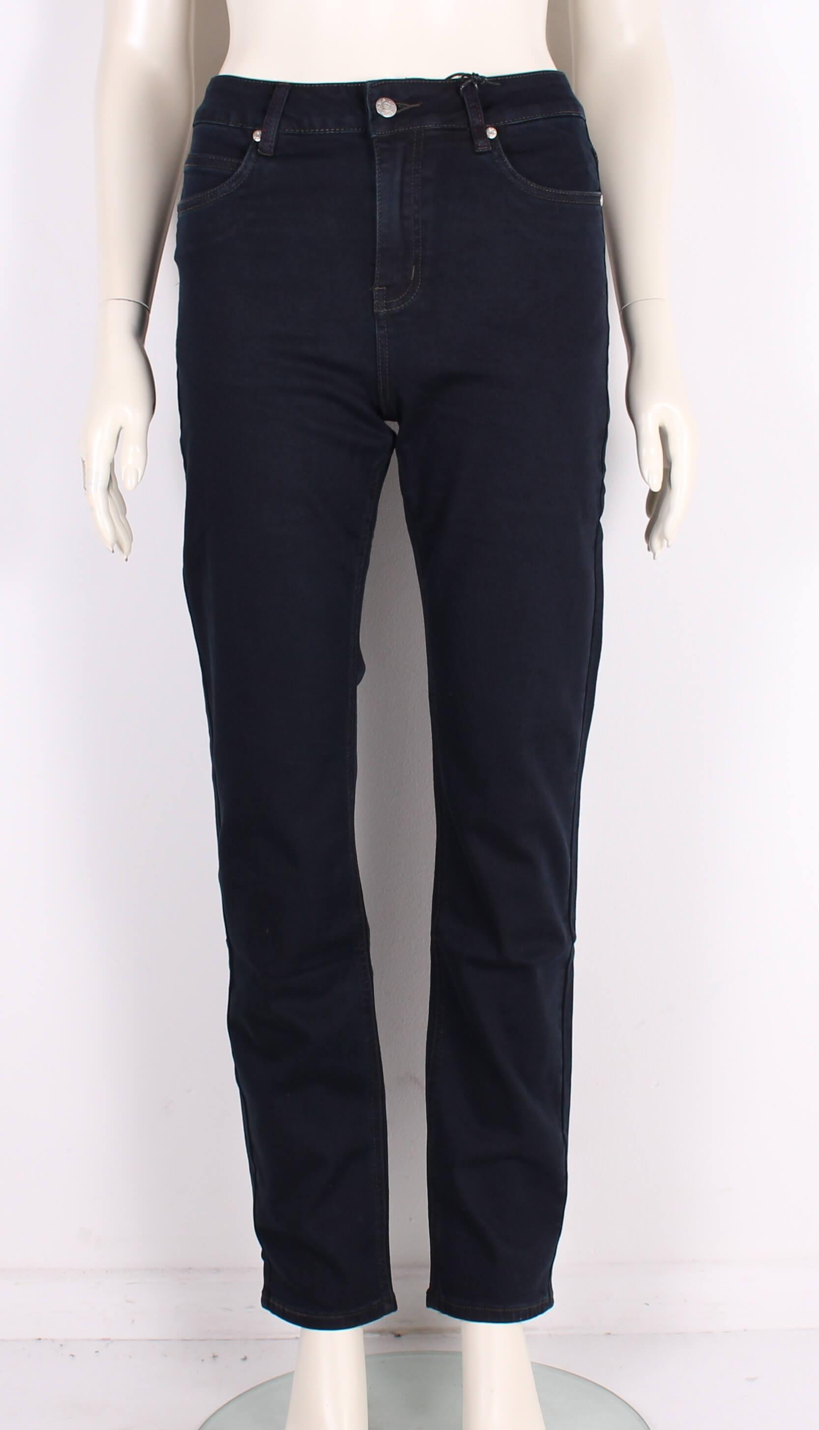 ASP – Smarte Dame Net Jeans m. høj talje – Mørkeblå