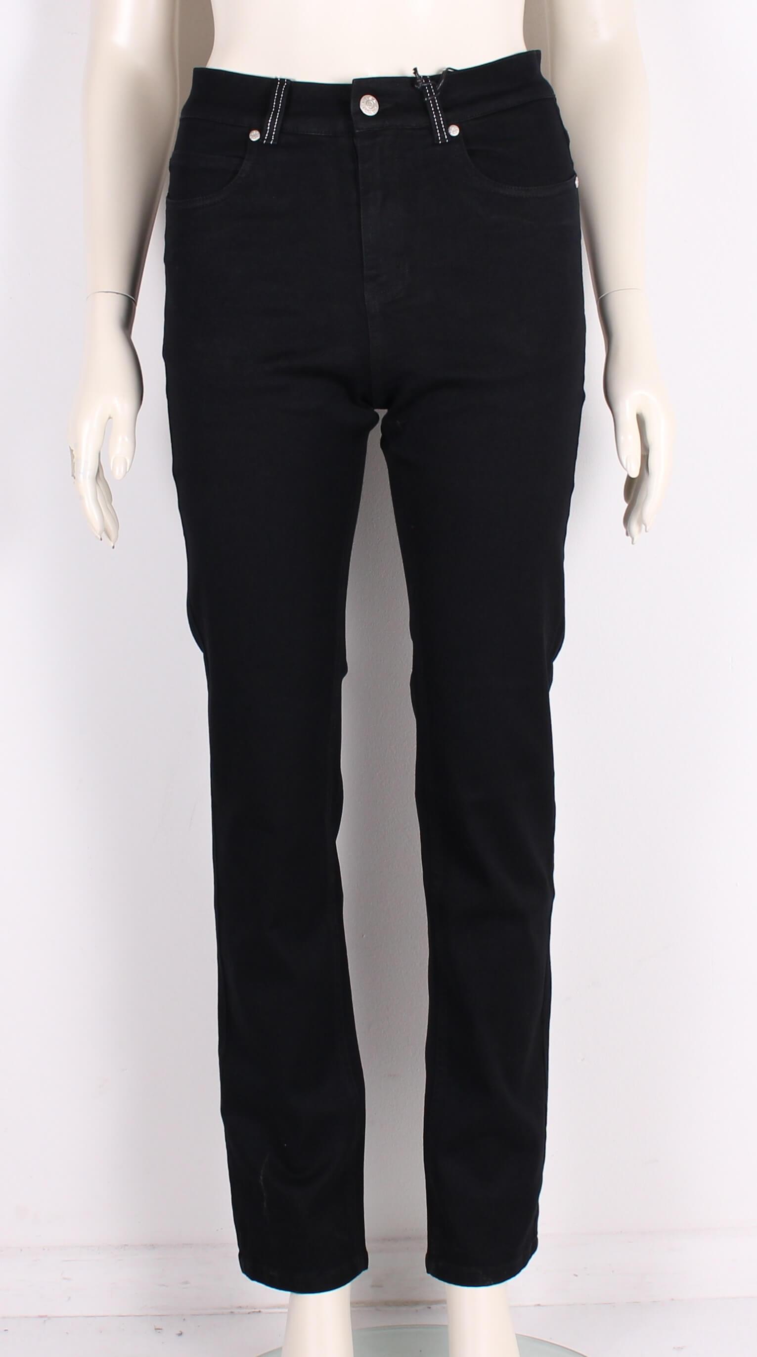 ASP – Smarte Net Dame Jeans m. høj talje – Sort