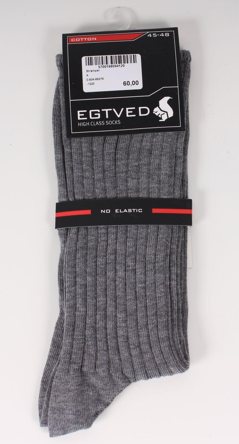Egtved – Bomuld Sokker – No Elastic – Lysegrå – Tilbud