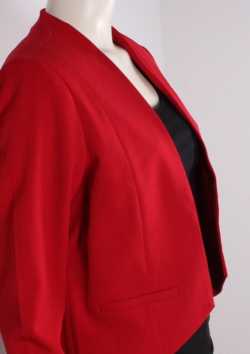 Signature Kort dame jakkeBlazer Rød