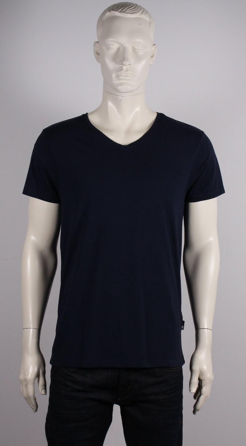 JBS – Bambus V-neck T-shirt Kortærmet – Mørkeblå