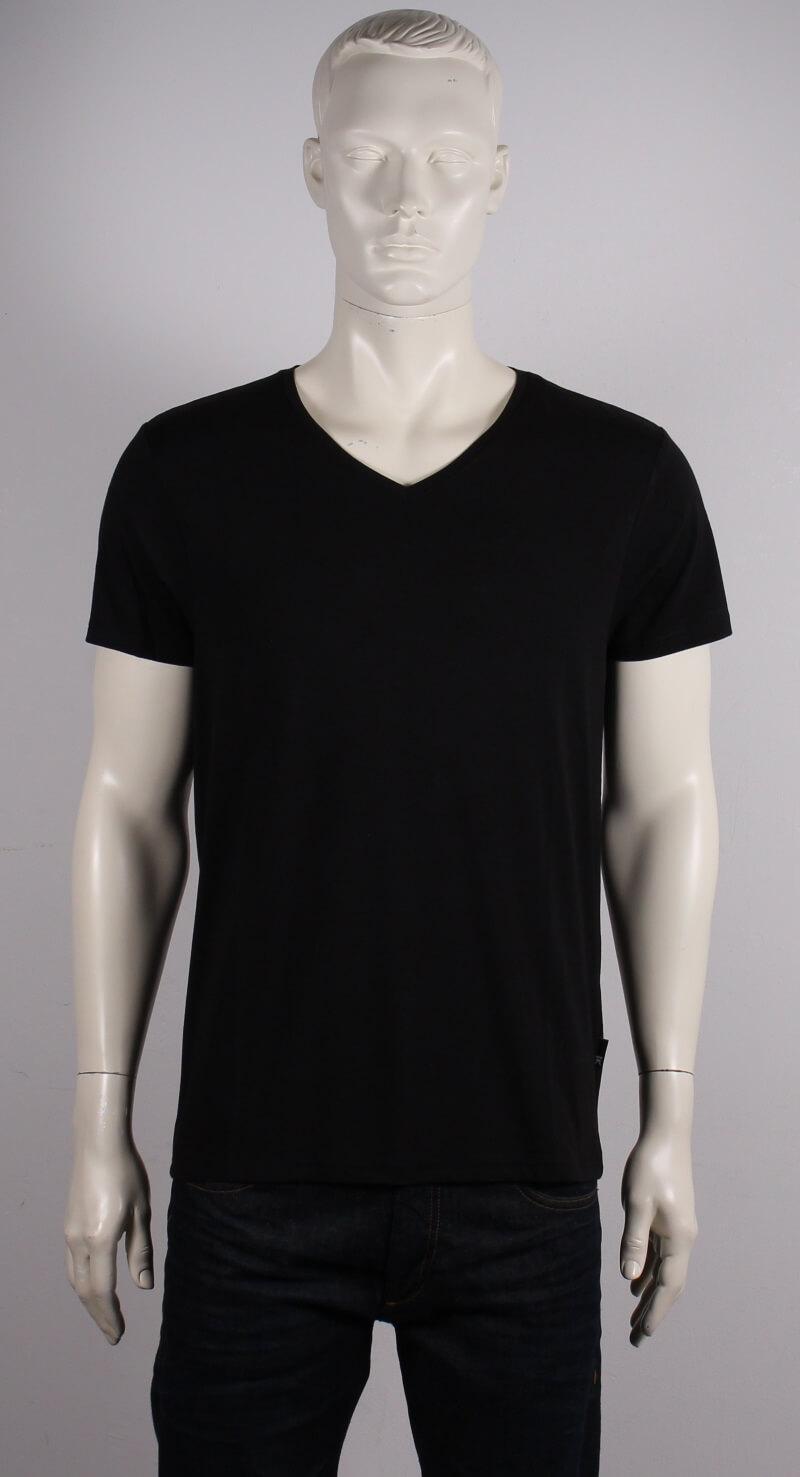 JBS Bambus V neck T shirt Kortærmet Sort