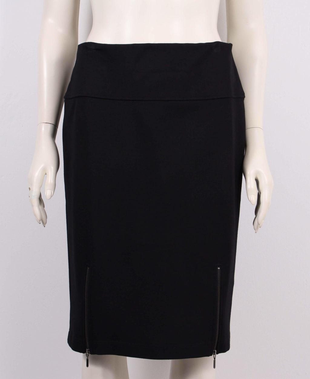 Choise Klassisk Sort Dame Nederdel m. elastik i talje 50%