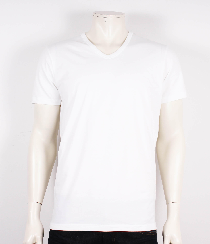 JBS – T-shirts m. v-hals – 4% Lycra – Hvid – 50%