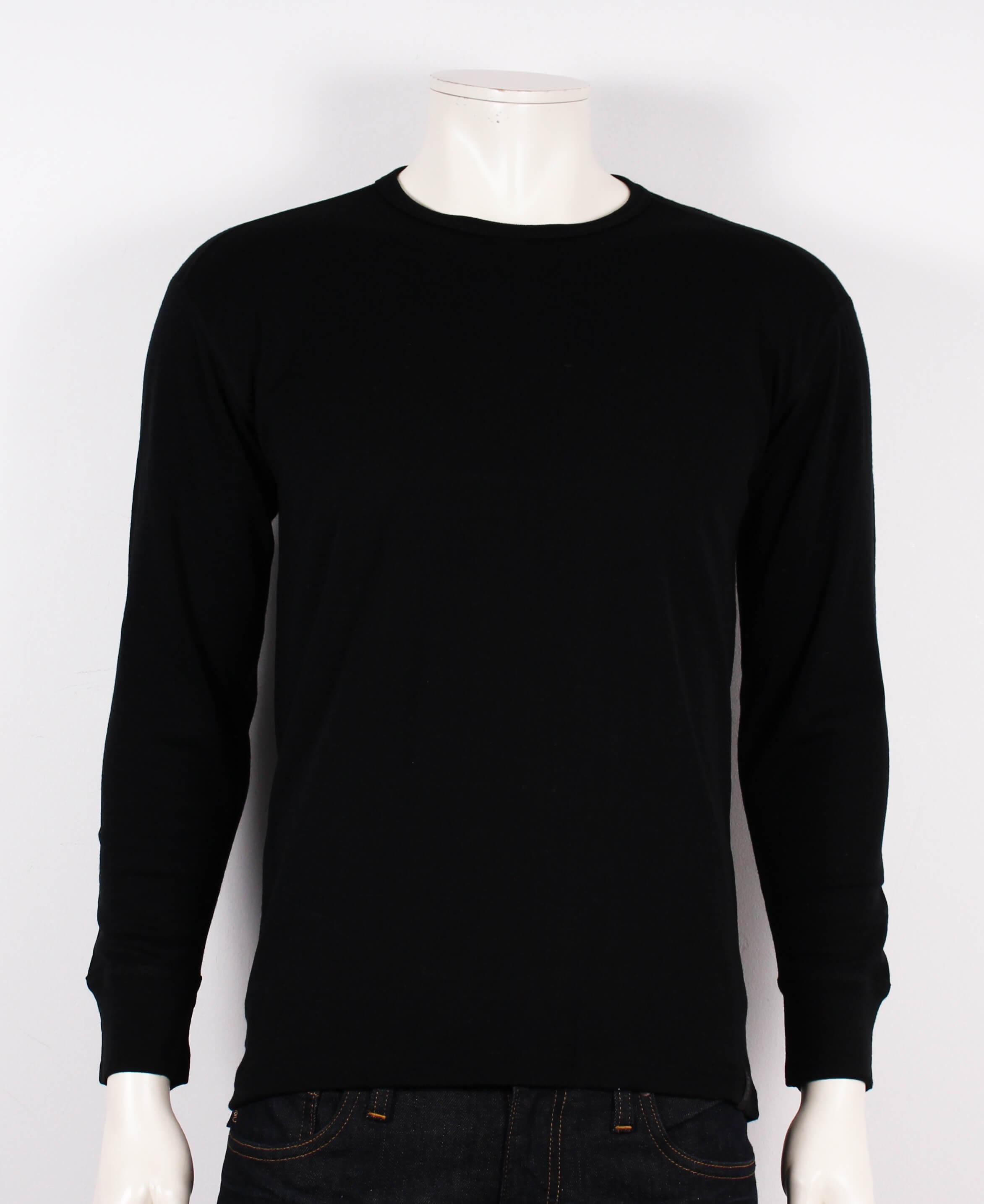 JBS – T-shirt M. Lange Ærmer – 100% Uld – Koks/Sort