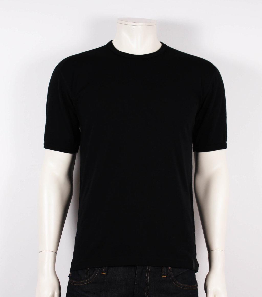 JBS T shirt M. Korte Ærmer 100% Uld Sort