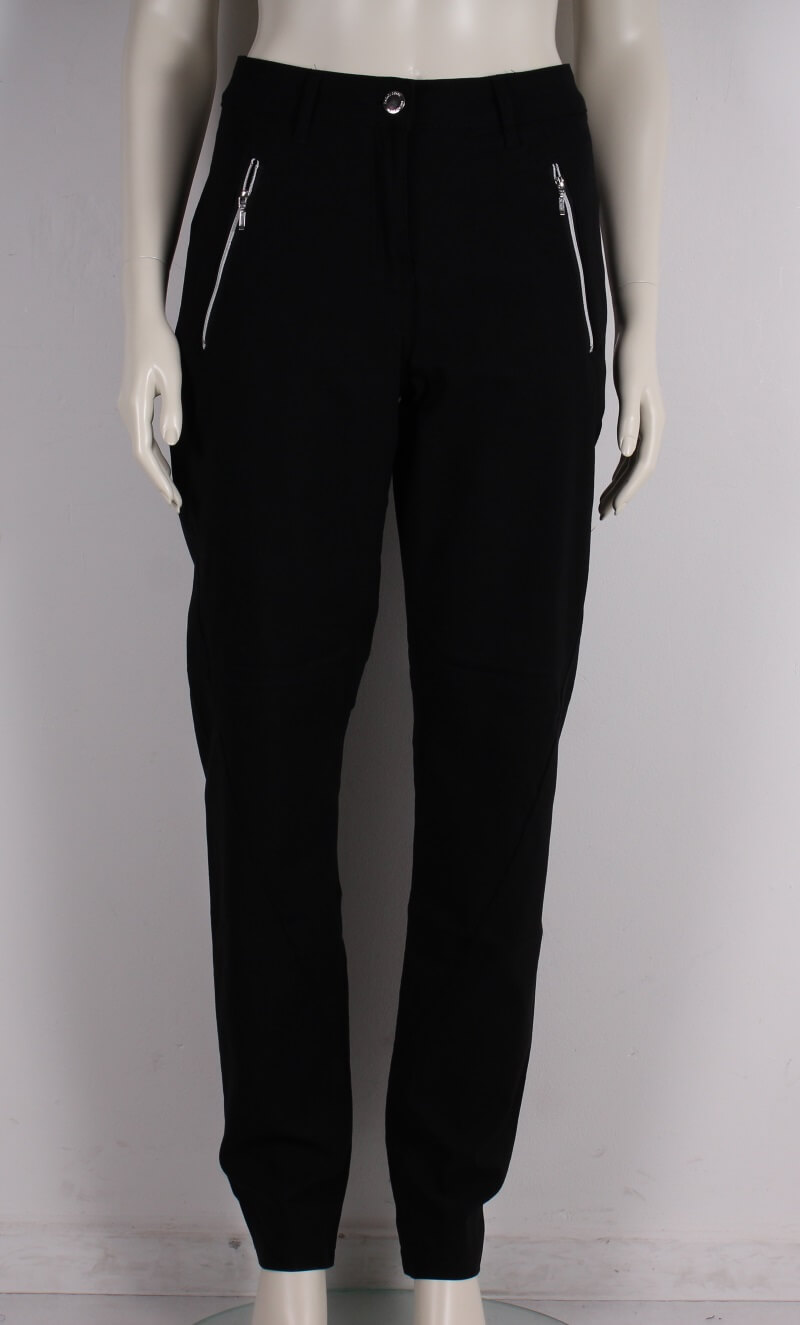Zhenzi – Plussize – Stomp twill legging fit Dame Buks – Sort – 25%