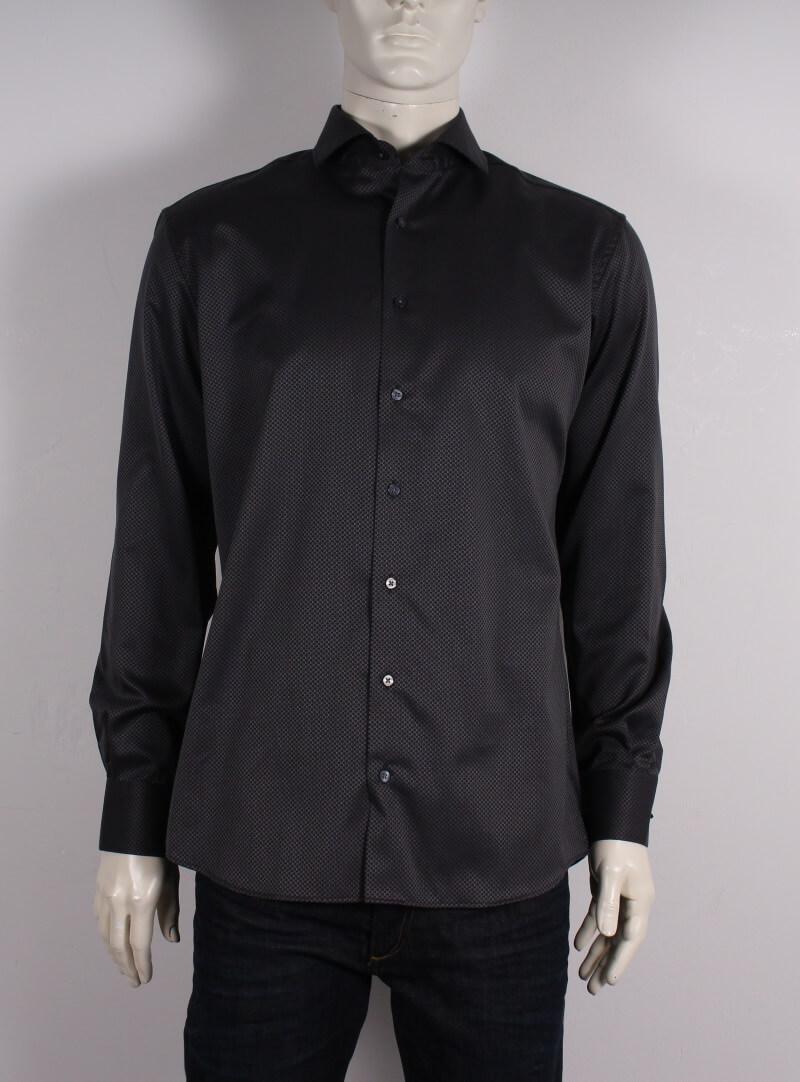 Eterna – Modern Fit Herre Skjorte – Mørkegrå/Ternet