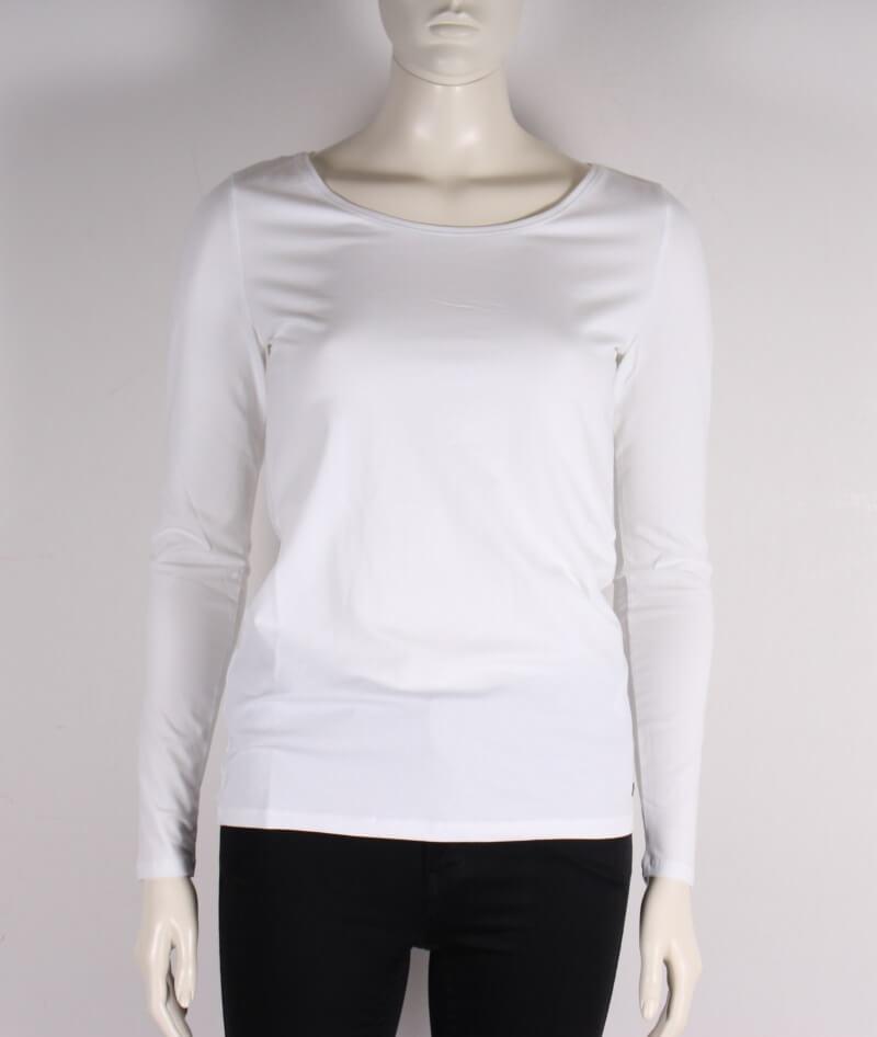 Esprit Langærmet Basis T shirt Hvid