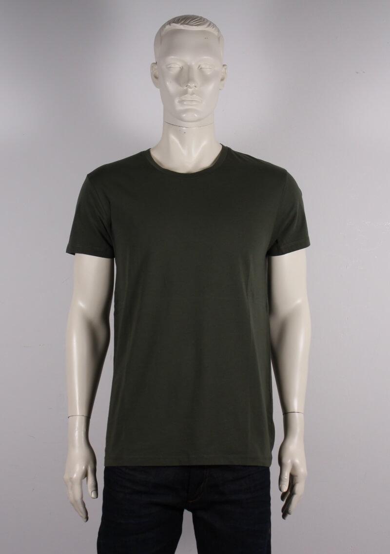 Samsøe Samsøe Male Kronos T shirt Armygrøn Tilbud