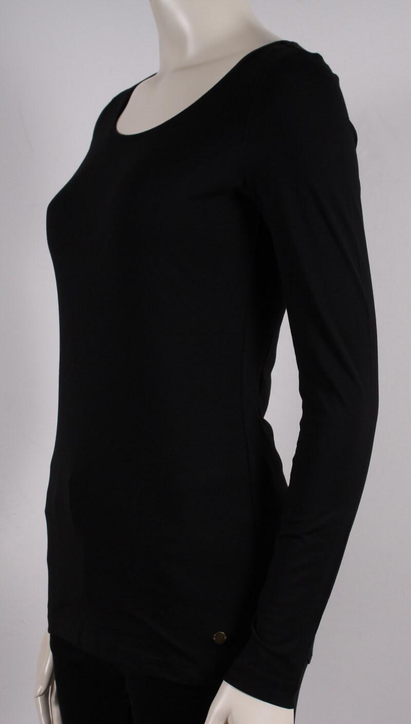 Esprit Langærmet Basis Dame T shirt Sort