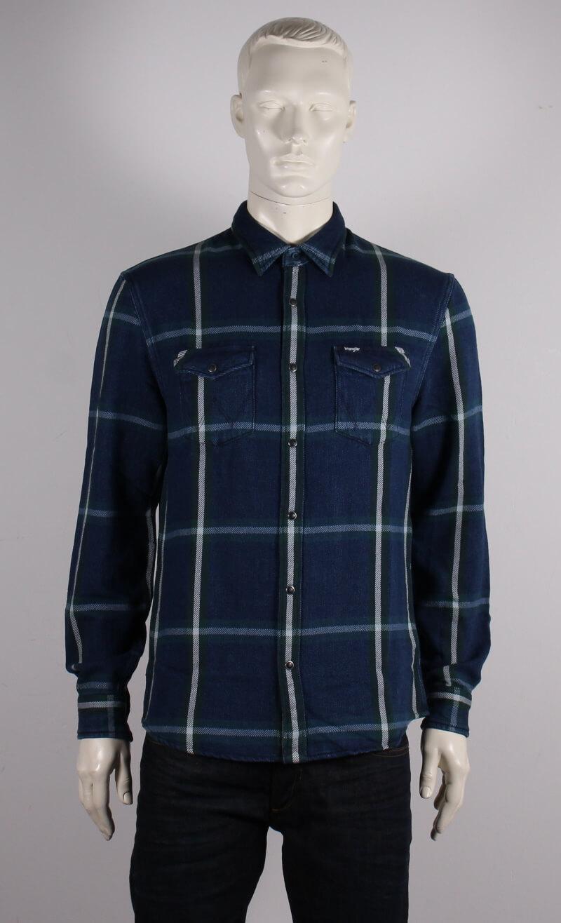 Wrangler – Regular Fit Western Skjorte – Blå Ternet – 50%