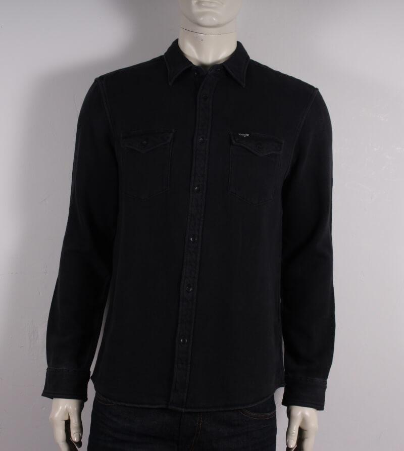 Wrangler – Regular Fit Flap skjorte – Sort