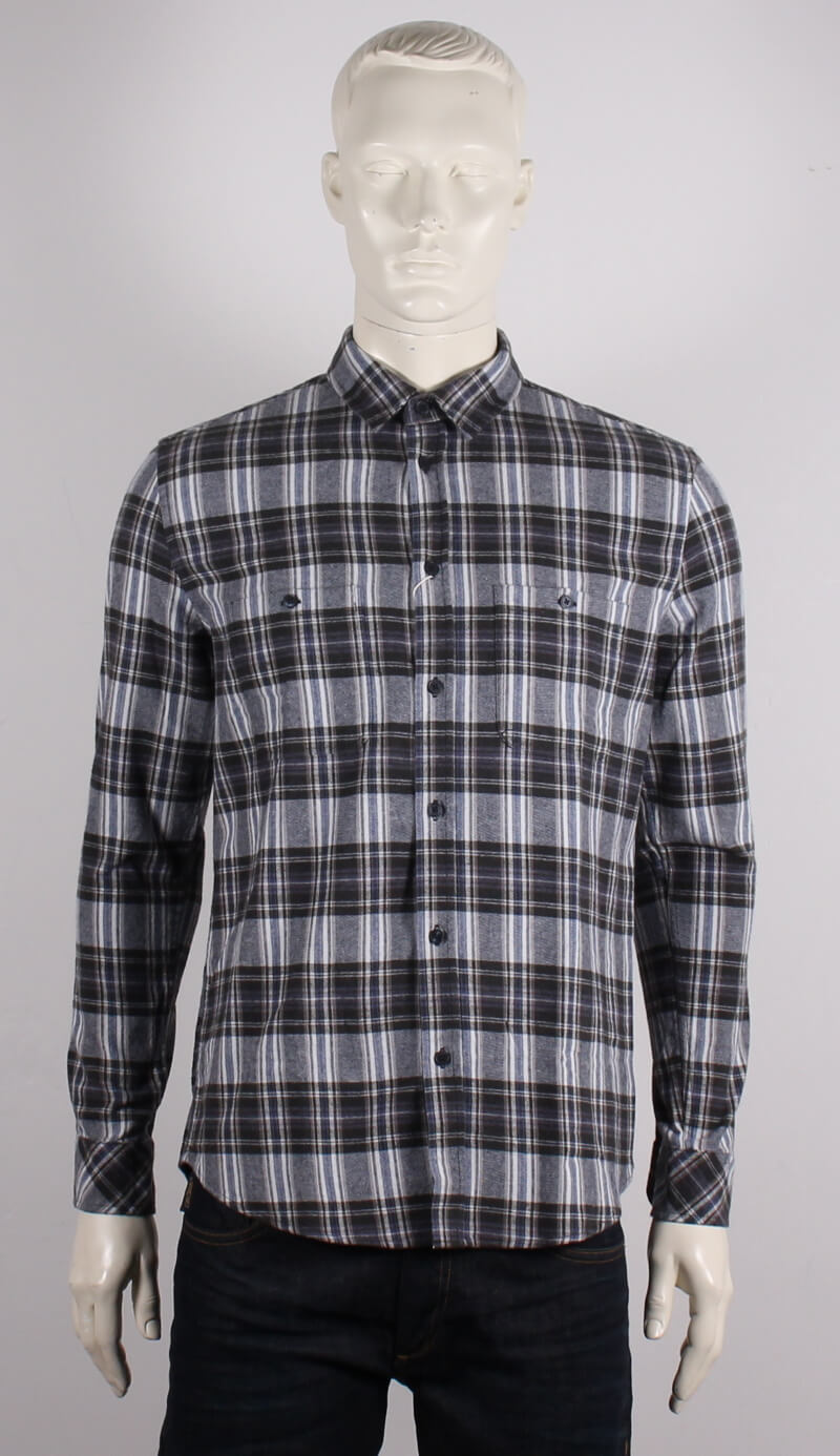 Samsøe Male – Liam Skjorte – Blå/Ternet – 50%