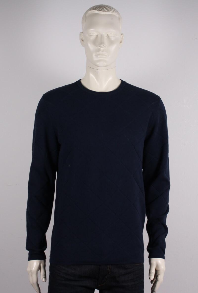 Lindbergh Black – O-neck pullover strik – Blå