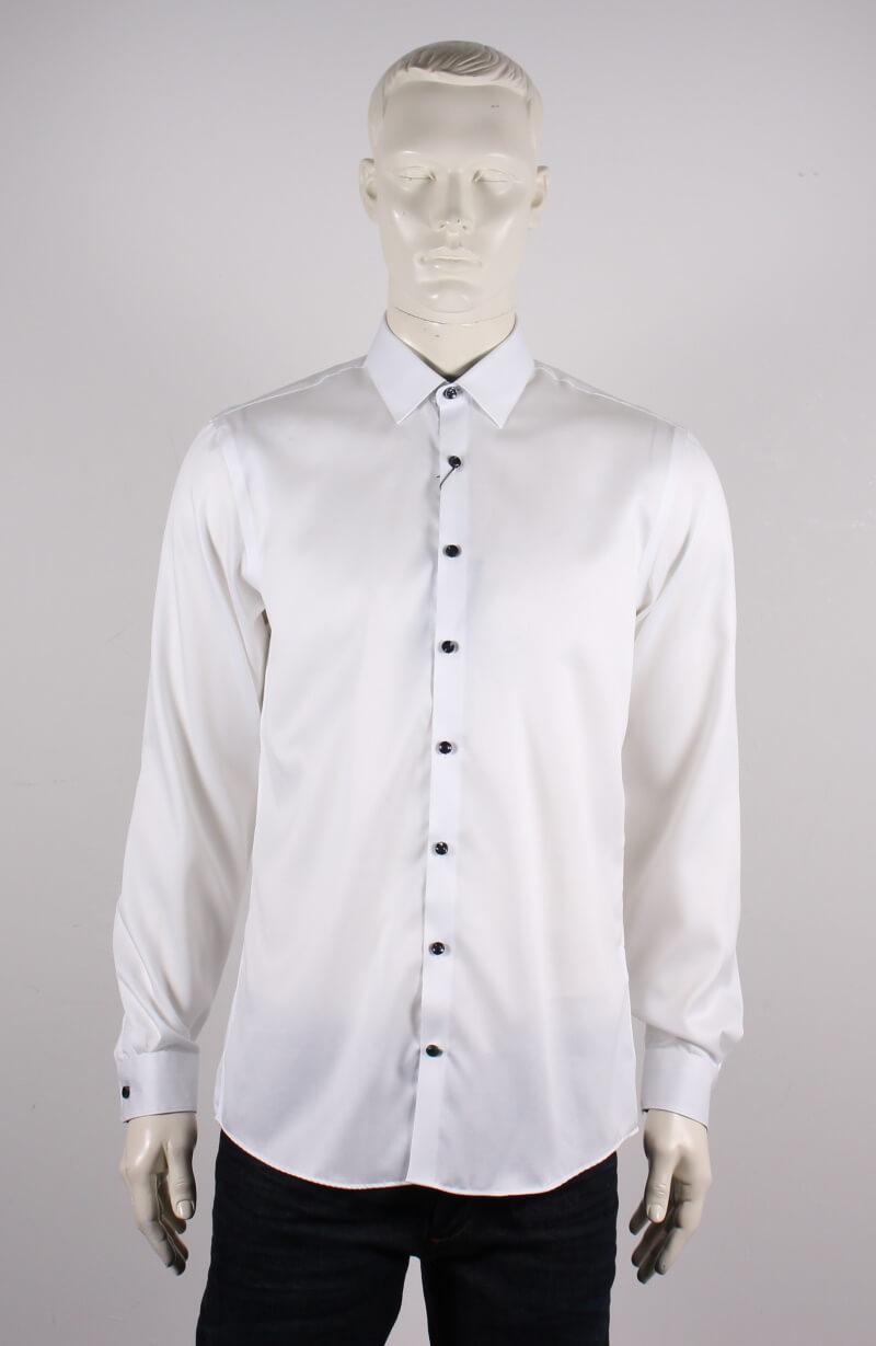 Lindbergh Black – Solid twill Skjorte L/S – Hvid