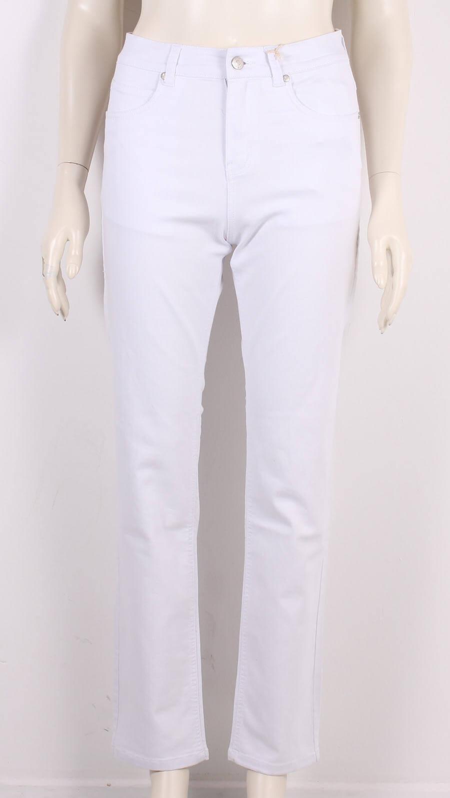 ASP – Smarte Net Dame Jeans Highwaist – Hvid