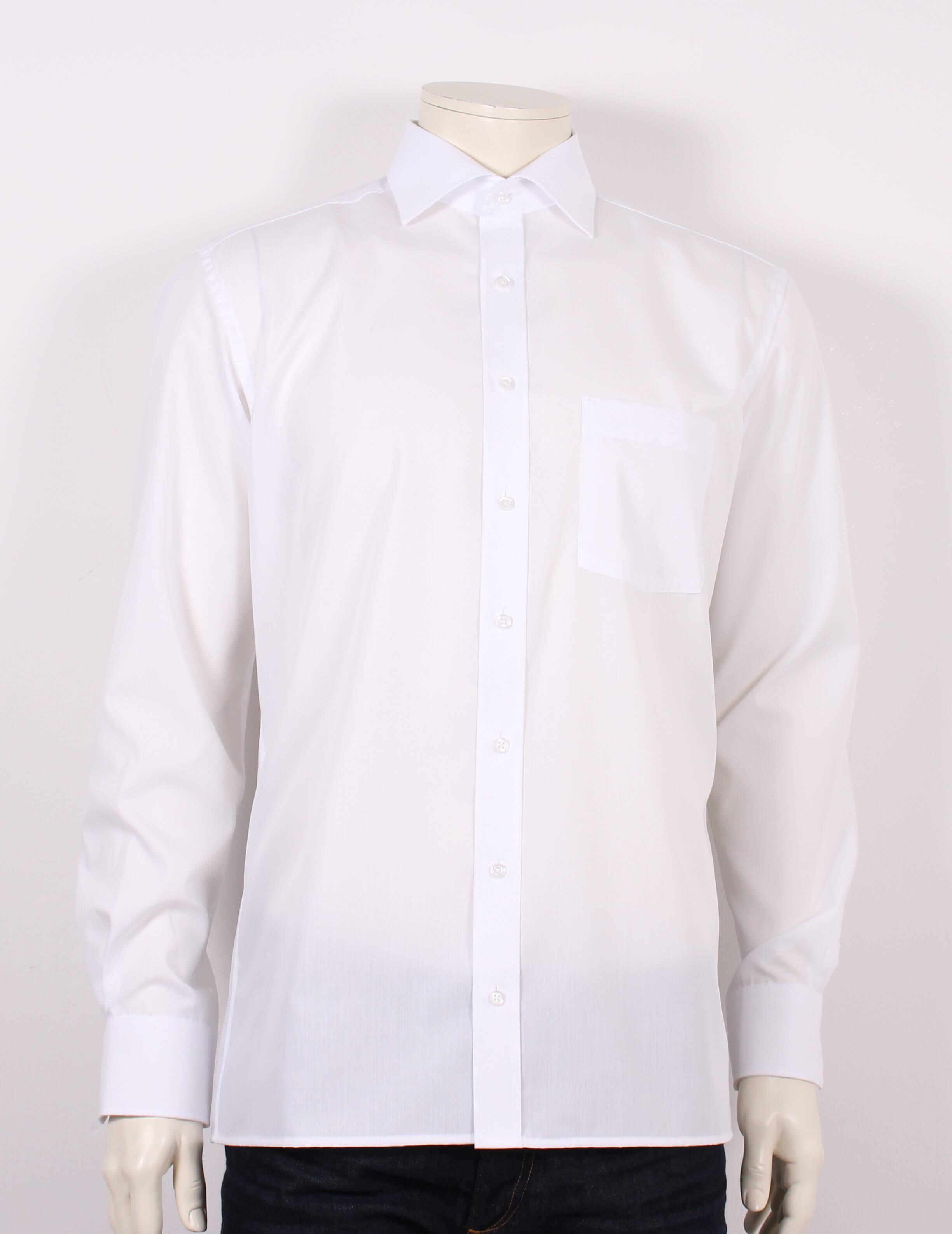 Eterna – Modern Fit Redline Skjorte – Hvid – Strygefri – 50%
