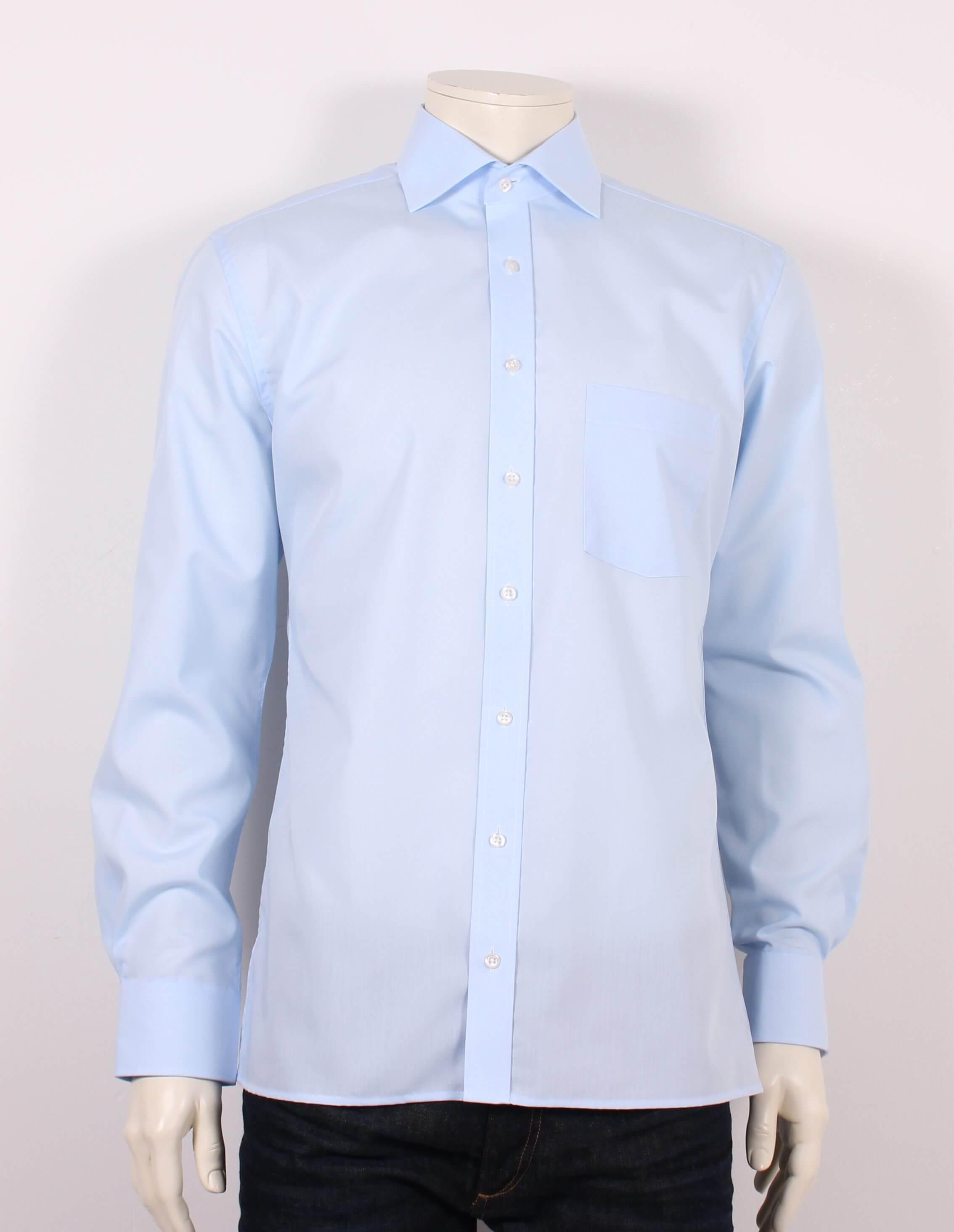 Eterna – Modern Fit Strygefri Redline Skjorte – Lyseblå – 50%