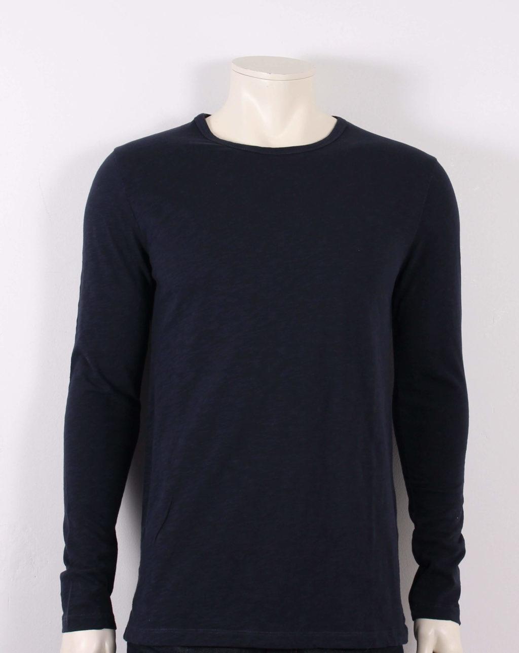 Samsøe Samsøe Male Lassen T Shirt Blå Tilbud