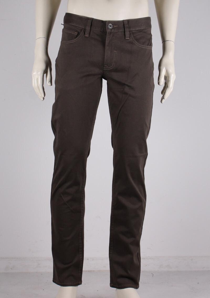 Lindbergh Black – Suede touch superflex jeans – Mørk Sand