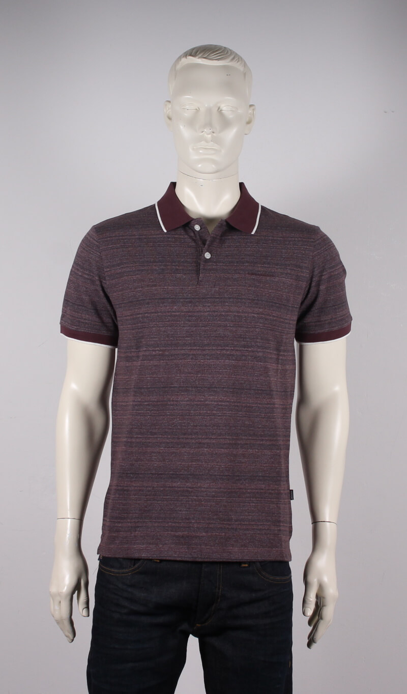 Lindbergh Black – Mixed herre polo S/S – Bordeaux