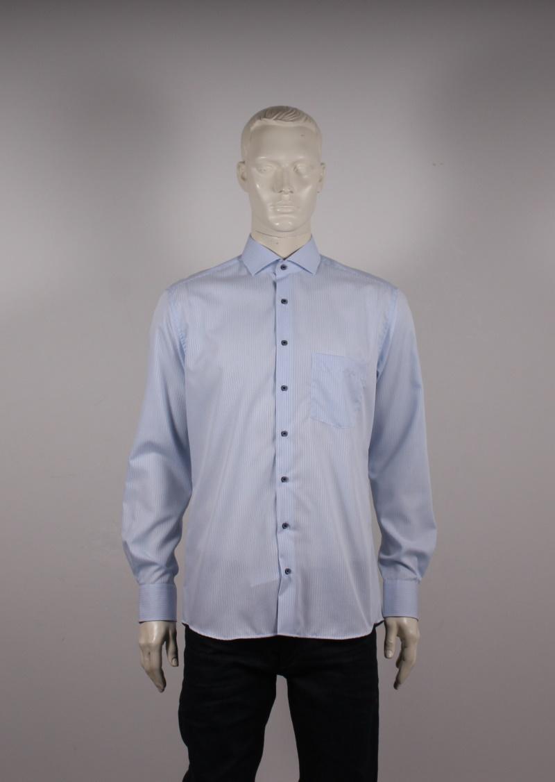 Eterna – Modern Fit Herre Skjorte – Blå ternet