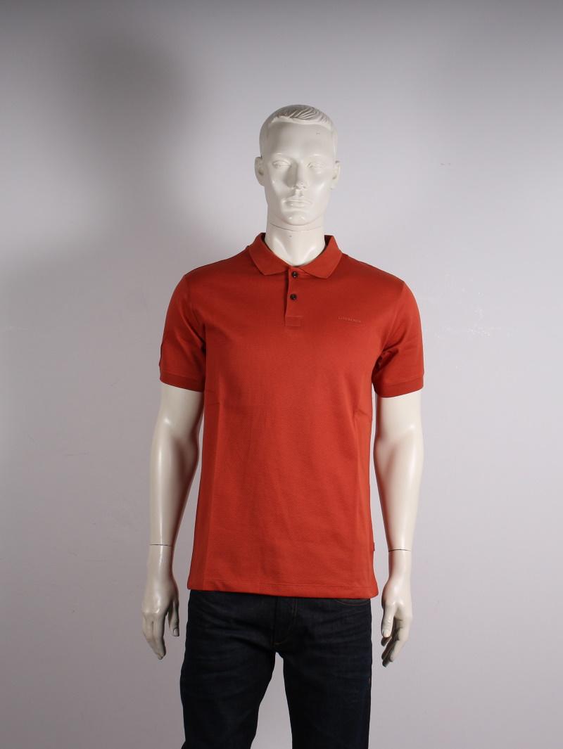 Lindbergh Black – Solid small pattern – Herre polo – Orange – 25%