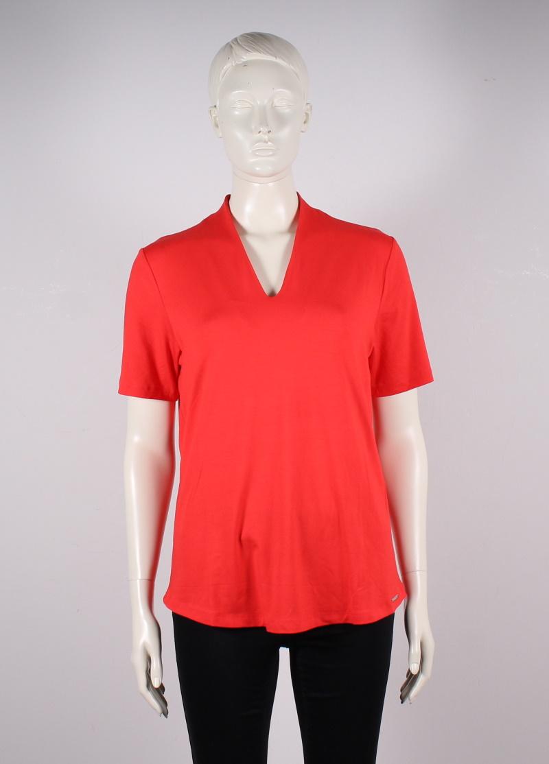 Elton – Dame t-shirt – strækbar m. v-hals – Rød