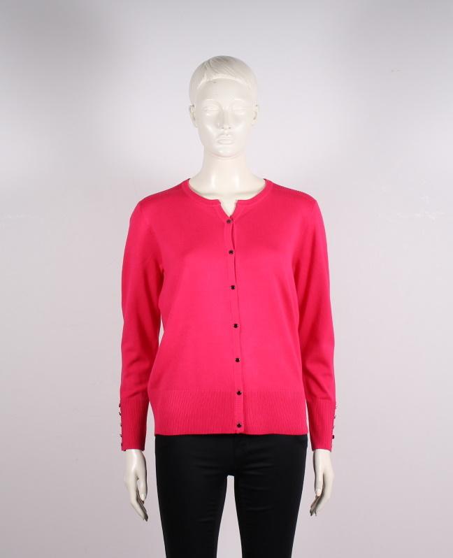 Micha – Dame Cardigan med knapper – Pink