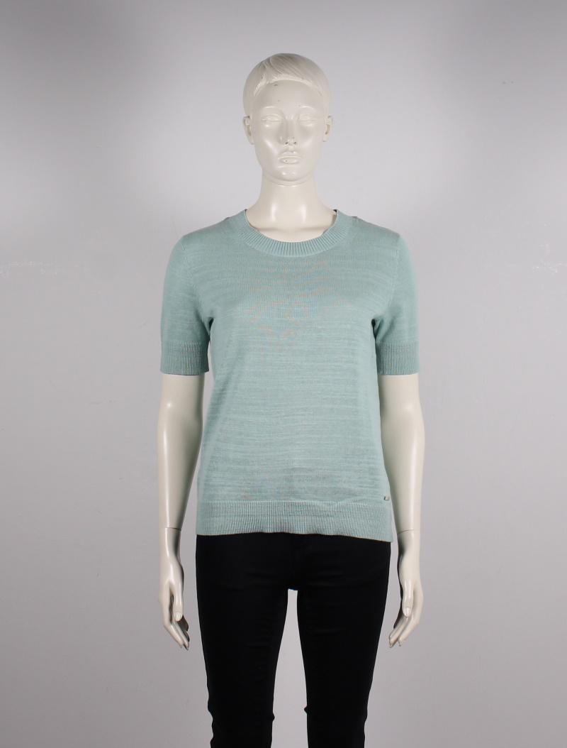 Esprit – Reglan Strik T-Shirt – Lysegrøn