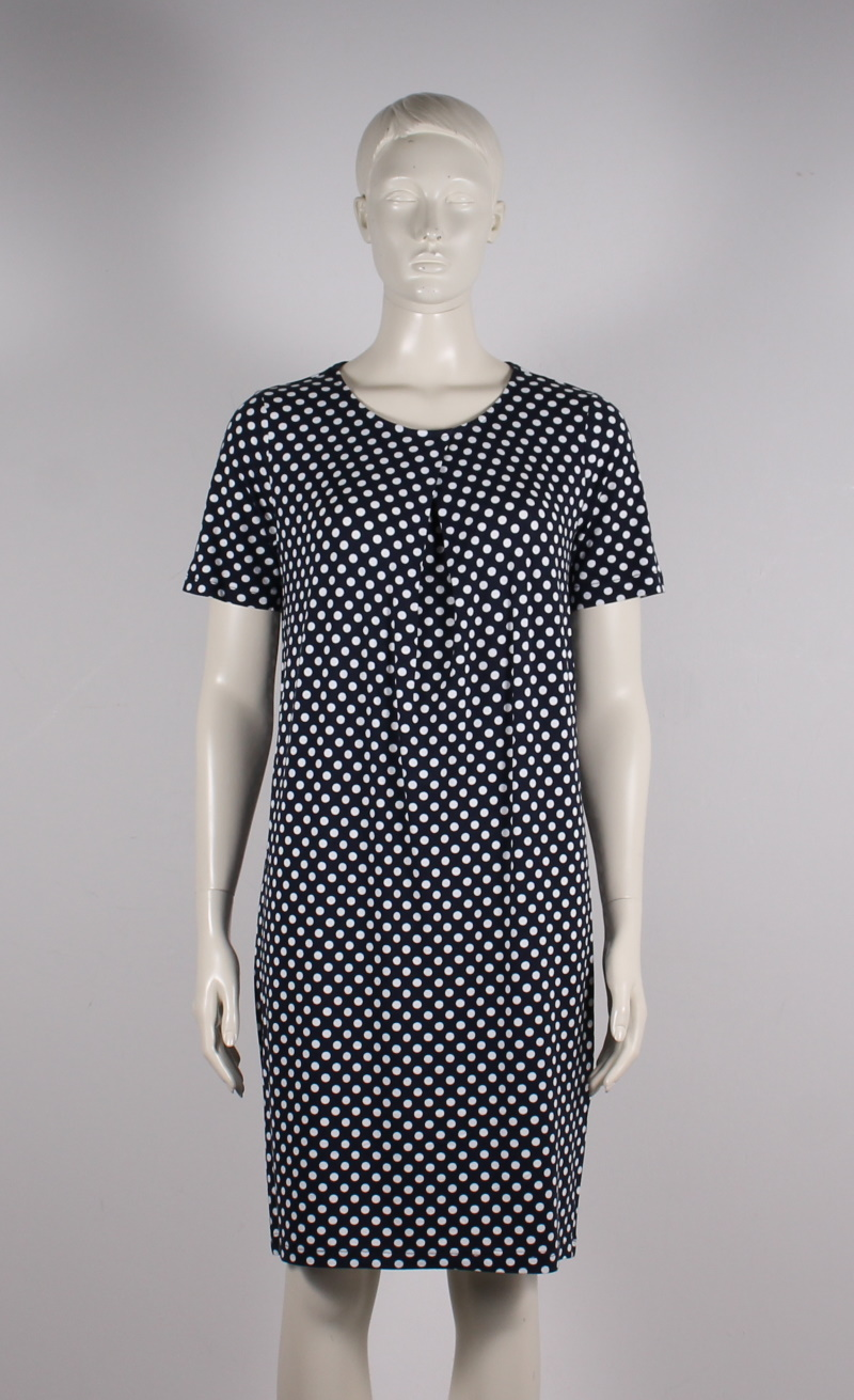 Brandtex – Dame Jersey Kjole – Prikket – 50%