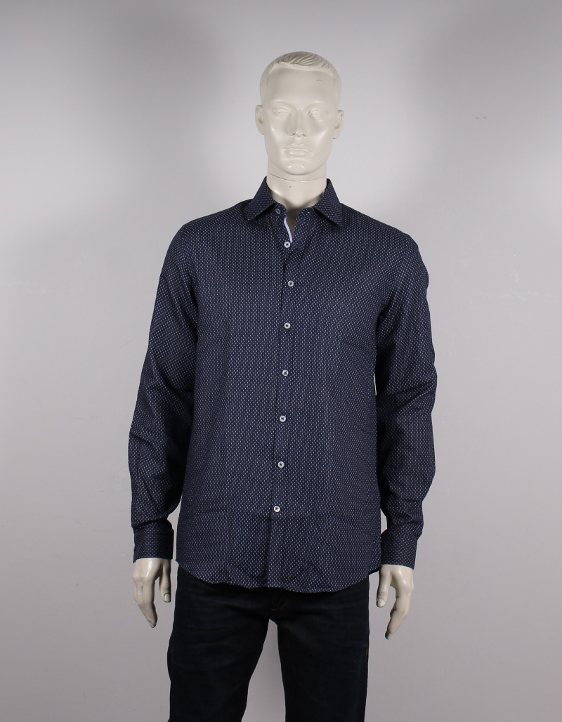 Lindbergh Black – Krølfri skjorte – Mørkeblå