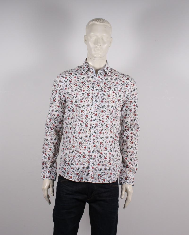 Lindbergh Black – Blomstret Skjorte – Slim fit – Hvid