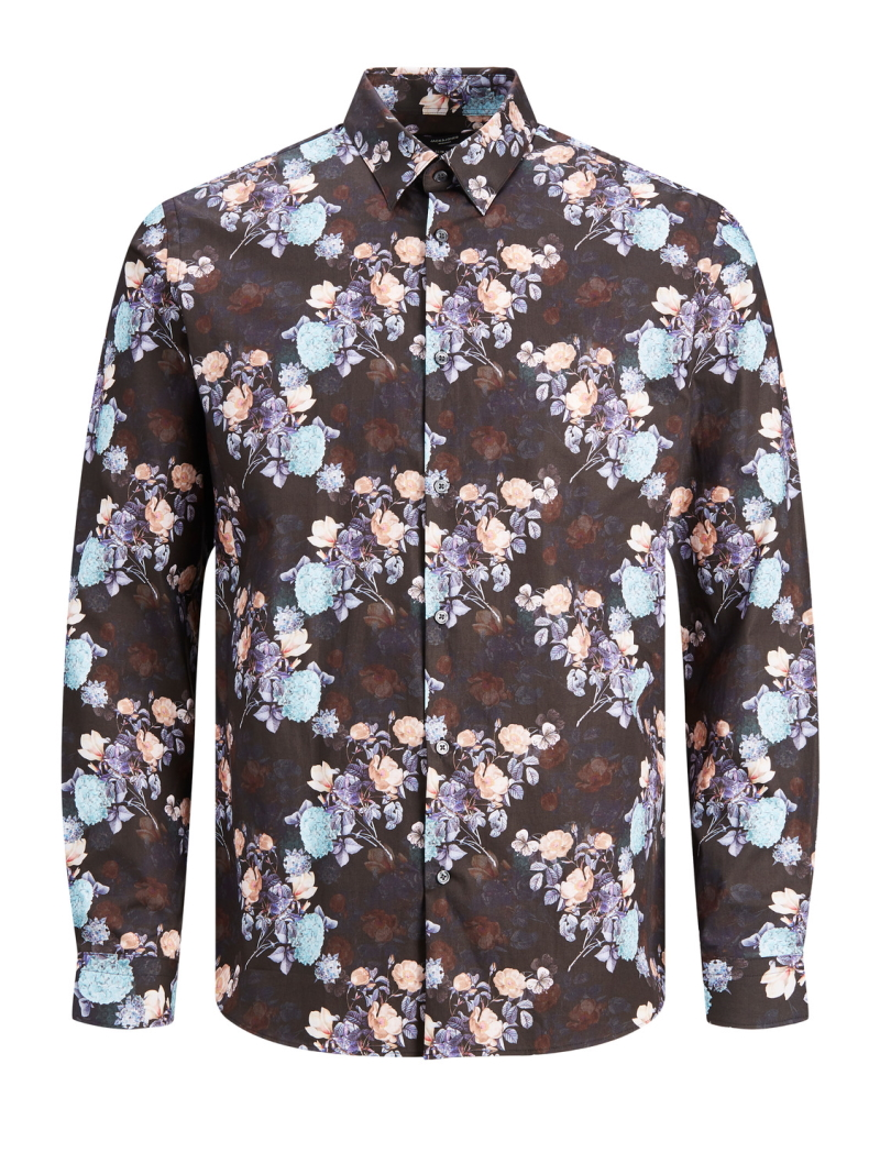 Jack&Jones Premium – Vincent Flower Shirt – Sort – 50%