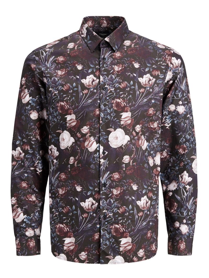 Jack&Jones Premium – Vincent Flower Shirt – Rød