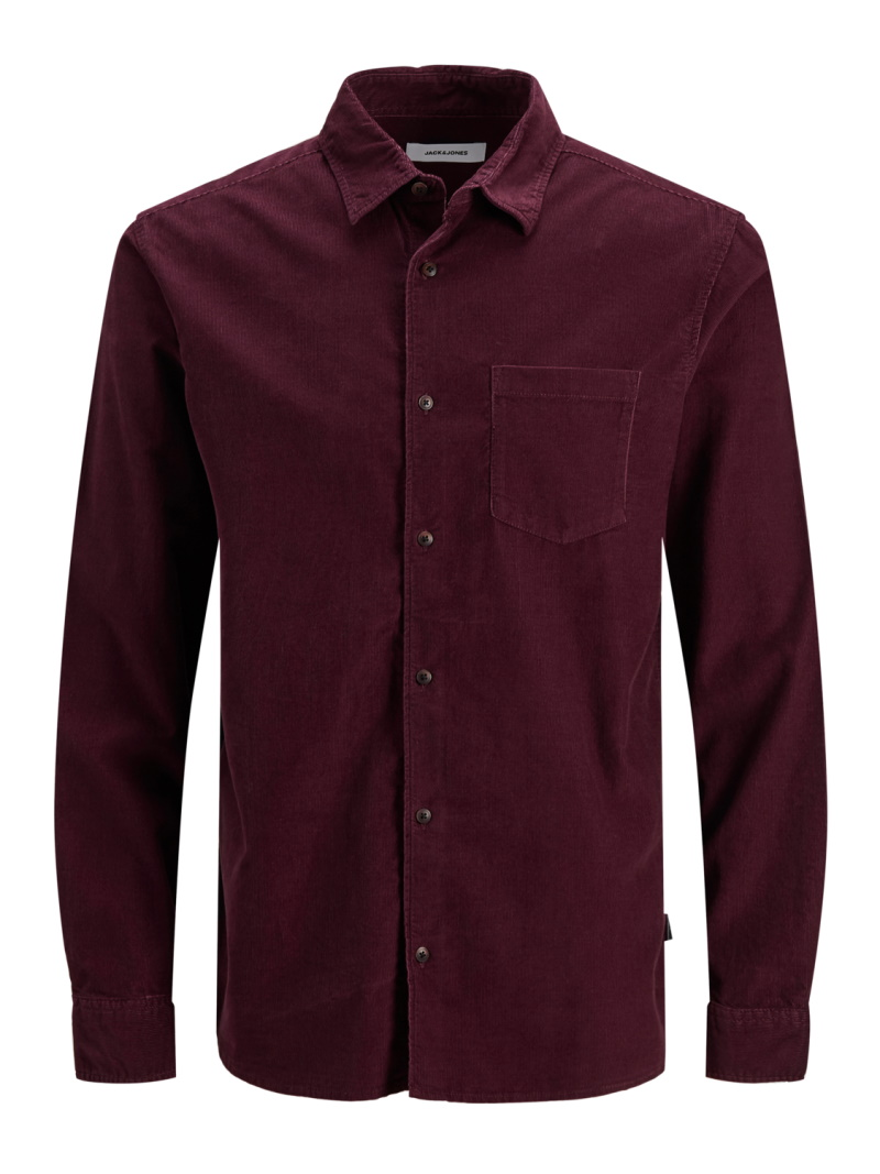 Jack&Jones – Kendrick skjorte – Bordeaux – 50%