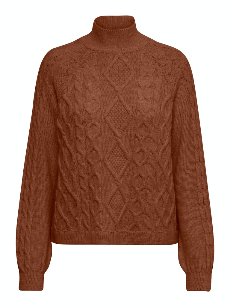 Only – Freya highneck pullover strik – brun