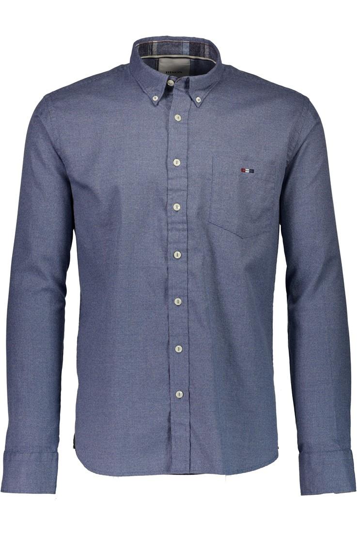 Bison – Smart Herre Skjorte – Blå