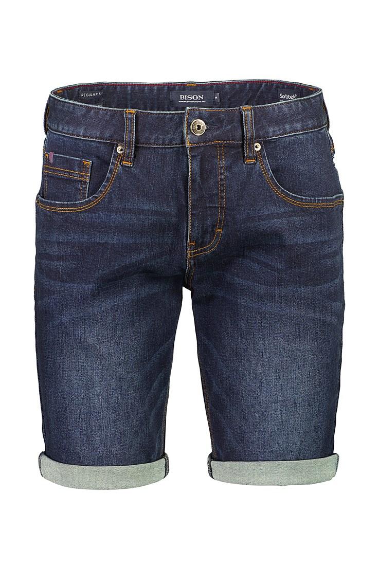 Bison – Superflex 5 Pocket Shorts – Dark Denim