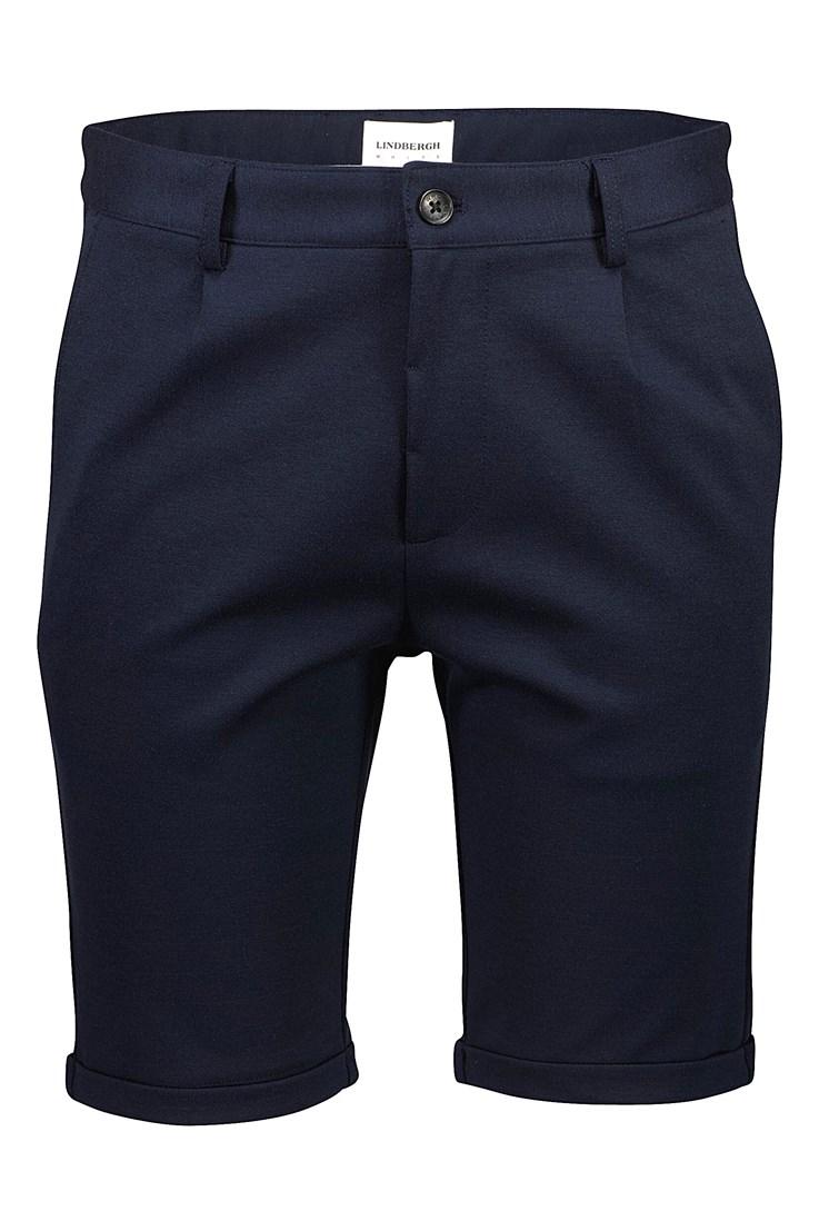 Lindbergh White – Pleated Shorts – Mørkeblå