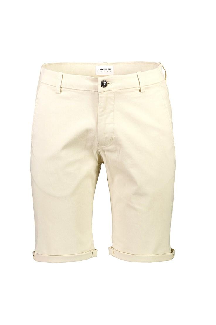 Lindbergh White – Superflex Chino Shorts – Sand