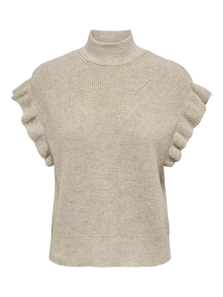 Only – Iris Highneck Vest – Sandfarvet